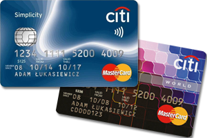 Karty Citi Simplicity i Mastercard World