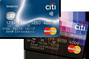 Karty Citi Simplicity i Mastercard World