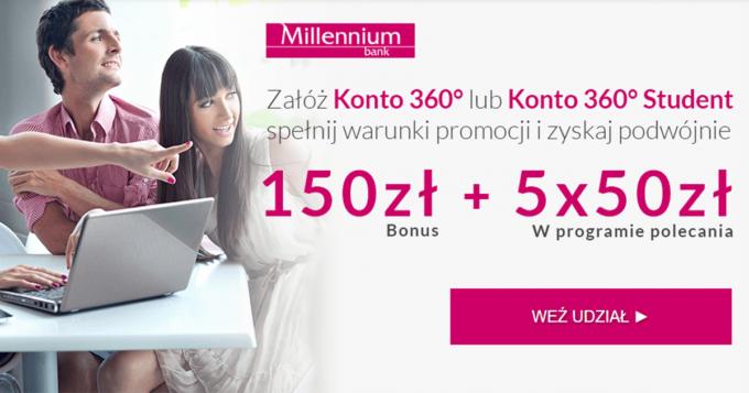 Otwórz Konto 360 lub Konto 360 Student i odbierz 400 zł premii