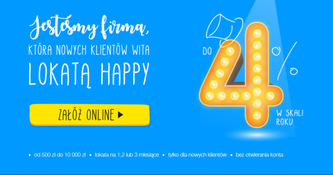 Lokata Happy 4% w IdeaBank