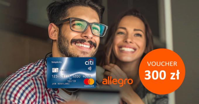Załóż bezpłatną kartę Citi Simplicity i odbierz voucher 300 zł na Allegro za darmo