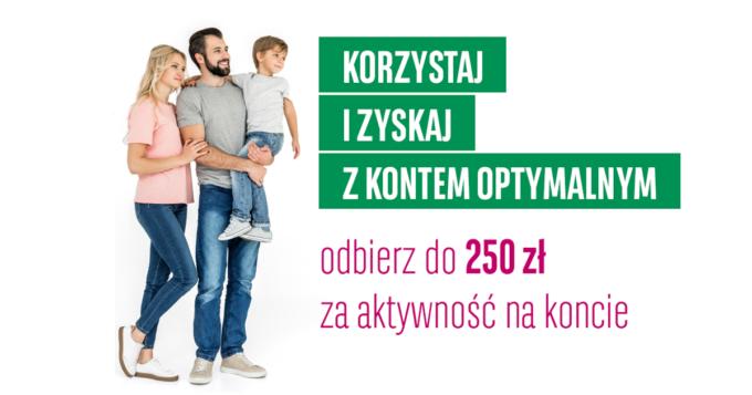 Promocja Korzystnie w koncie - odbierz 250 zł za założenie Konta Optymalnego w BGŻ BNP Paribas
