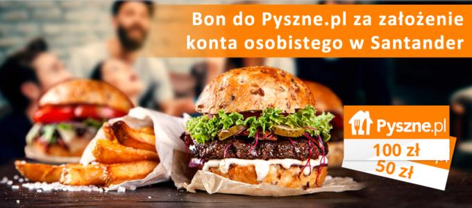 Bon do Pyszne.pl za założenie konta osobistego w Santander