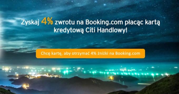 4% zniżki na Booking.com z bezpłatną kartę Citi Simplicity