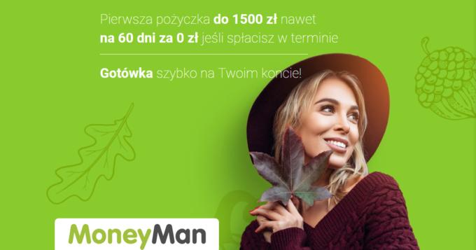 Pierwsza darmowa pożyczka w MoneyMan do 1500 zł