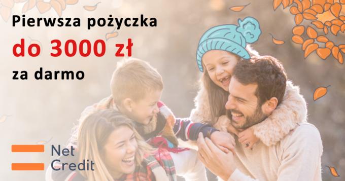 Pierwsza darmowa pożyczka w NetCredit do 3000 zł