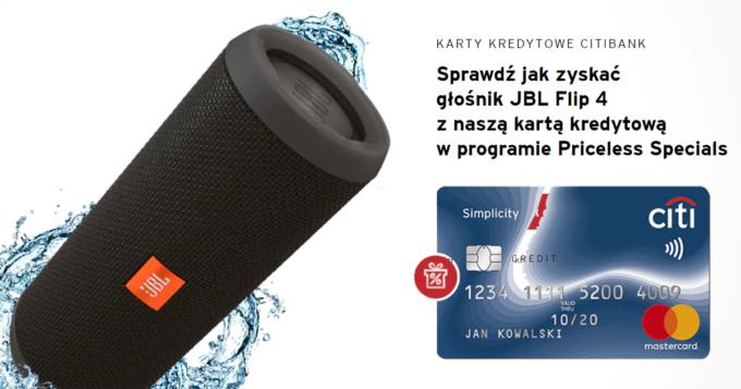Załóż bezpłatną kartę Citi Simplicity i odbierz głośnik JBL Flip 4 za darmo