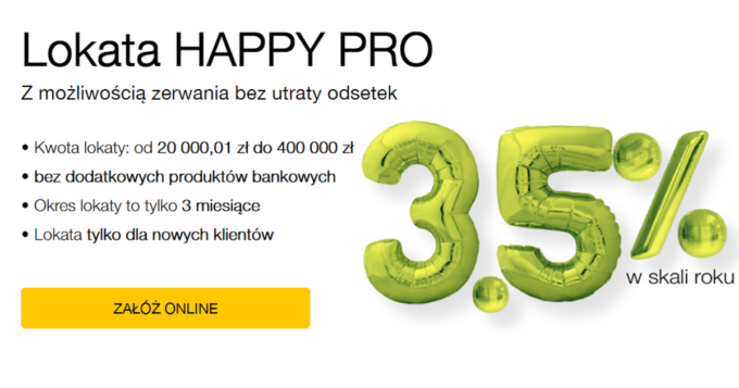Lokata Happy Pro w Idea Bank